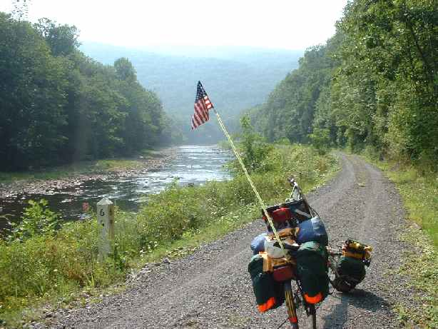 Near the start of the Greenbrier River Trail